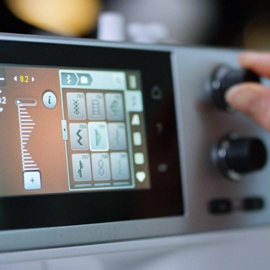 Bedienung per Touchscreen